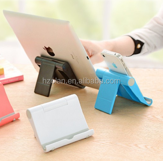 Adjustable Plastic Stand, Multi-Angle Cell Phone Stand, Holder for Mobile Phone and Tablet Computer