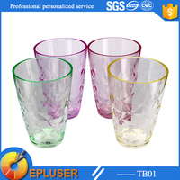 13oz drinking tumbler custom logo fancy shiny diamond look useful plastic decorate drinking cup glass