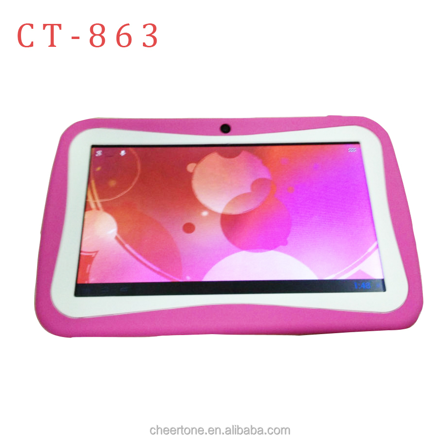 "Multicolor 7"" Capacitive Screen 4GB portable Learning Laptop for kids"