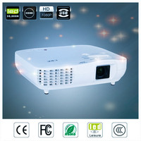 low cost high quality 1080p led hd projector 50000:1 contrast ratio video projector, hdmi usb vga analog tv use led projector