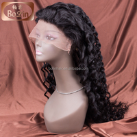Qingdao wig making supplies top quality 8a grade european hair full lace wig full lace human hair wig
