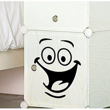 Furniture Decals Baby Decor Decals Smile face furniture wall fridge Decorative Stickers/Toilet sticker