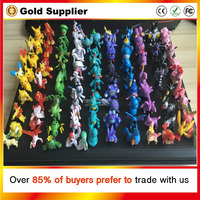 144 pcs/set 2016 Newest Cartoon Anime pokemon toys action figure Kids Toys Brinquedos Birthday Gifts Mixed 2-3cm