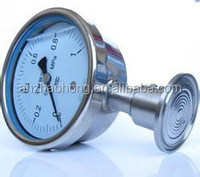 2.5'' 4'' 6'' Clamp type Stainless steel sanitary diaphragm seal bayonet bezel ring glycerine oil fillable pressure gauge