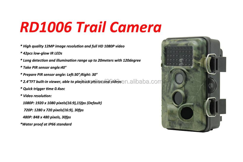 940nm Low Glow 12MP Digital No Glow IR Game Trail Trap Hunting Camera Factory Direct Supply