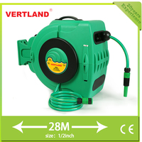New innovative car wahser 28m retractable 1/2 inch PVC water hose reel