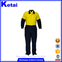 Customize Engineering Safety Uniform Embroidery Workwear Coverall Multicolor fire retardant working coverall