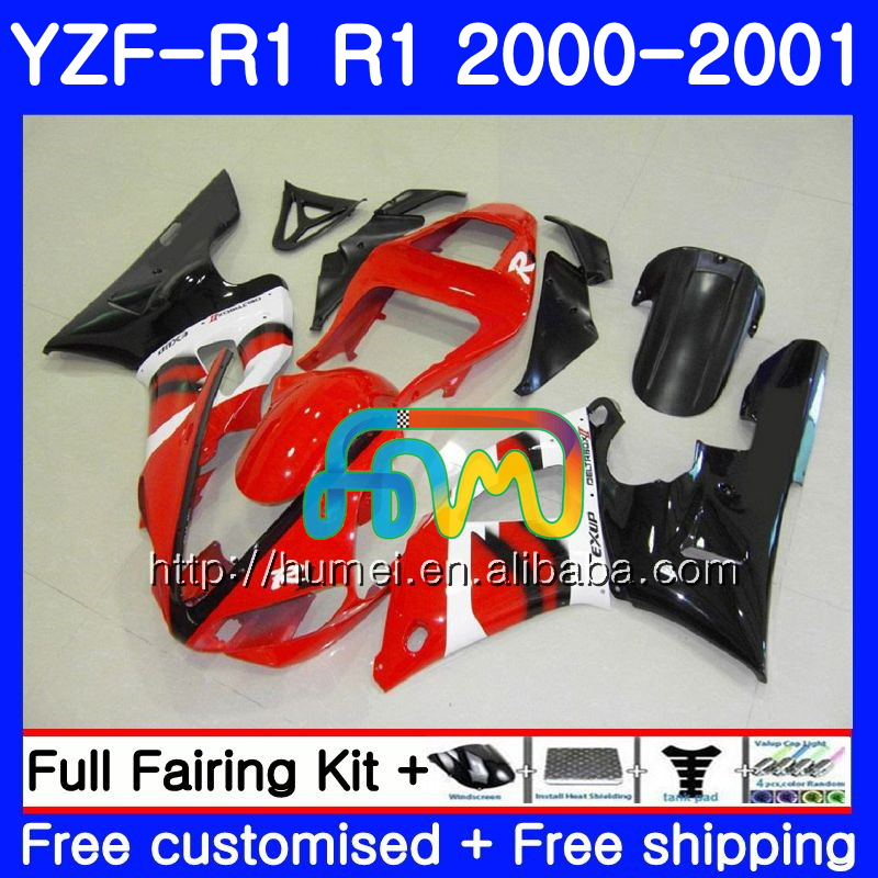 Body For YAMAHA YZF R 1 YZF 1000 YZF-<strong>R1</strong> <strong>00</strong>-<strong>01</strong> red black Bodywork 98HM10 YZF1000 YZF-1000 YZF <strong>R1</strong> <strong>00</strong> <strong>01</strong> YZFR1 2000 2001 Fairing
