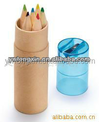3.5 inch color pencil with craft tubes packing