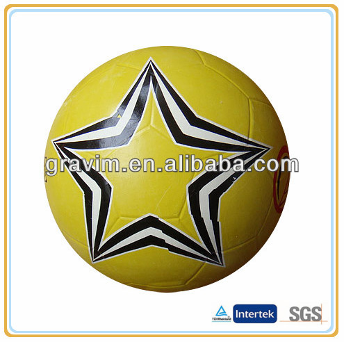 Gravim big star smooth surface rubber promotion footballs