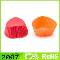 hot sell FDA Certified lightweight colorful silicone cup cake mould