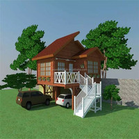 2016 New design beautiful resort prefab canadian wooden chalet house
