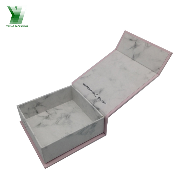 Luxury Custom Made Premium Marbling Printing Jewelry Gift Box for Sale