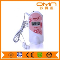 Baby sound machine Fetal Doppler Heart Rate FHR Monitor Back light Portable Ultrasonic Diagnostic Devices