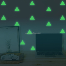 Glow In The Dark Geometric triangle Decor Wall Sticker Home Decoration Wall Paper For Bedroom Living Room Wall Decor
