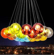 Colorful Glass ball pendant light rainbow ball hanging lamp NOT INCLUDE light source