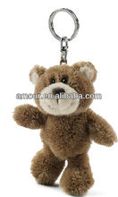 hot ted bear keychain stuffed little brown bear pendant with key ring cheap soft toys for christmas 2013