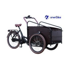 family three wheel cargo bike electric cargo bicycle child bike tricycle