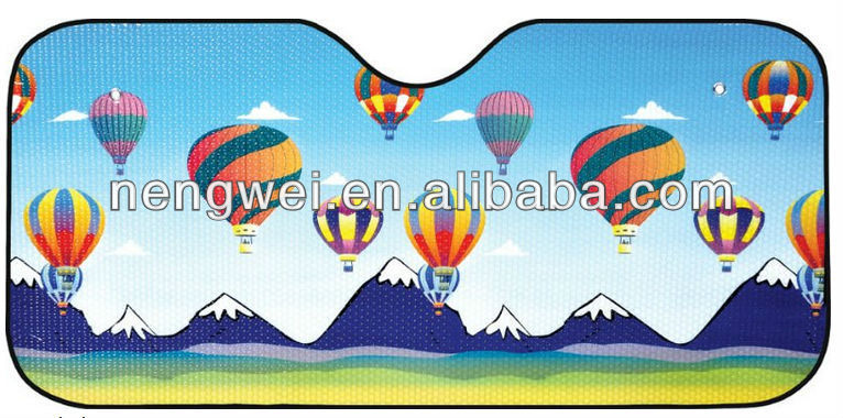 Popular customized logo printed car sunshade for front window