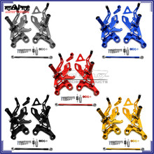 BJ-ARS-MT09B CNC Motorcycle Rearset Adjustable Rear Set Footpegs for Yamaha MT09 FZ09