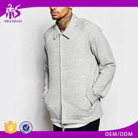 2016 Guangzhou Shandao OEM Custom Spring 100% Cotton Long Sleeve Jersey Button Up Polo-Neck Heavy Thick Hoodies