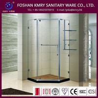 Factory Direct Price Hot Quality Good Design Glass Stainless Steel Swing 180 Degree Shower Screen (kk3037)