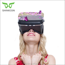 Shinecon OEM Printing,Cheap DIY google cardboard 3d vr Glasses for IOS and android