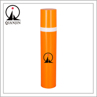 15ml 30ml 50ml Orange Colored Cosmetic Plastic PP Airless Pump Bottle