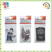 Customized Popular Auto Perfume / Paper Car Air Freshener with Deodorant Effect