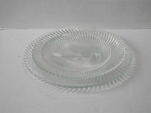 dinnerware diamond transparent glass dishes with stripe