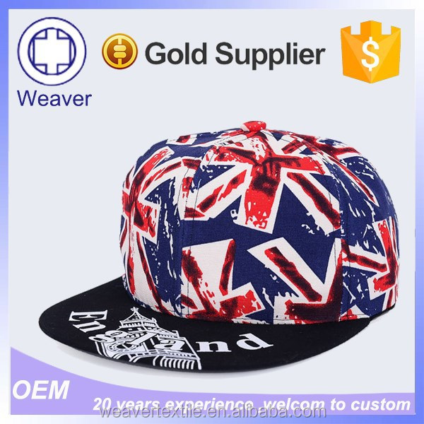 New Style Fashion Curve Brim American Flag Snapback Hat and Cap for Selling