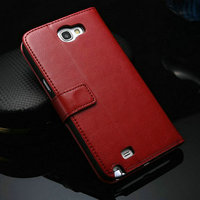 Cheap price factory direct high quality outdoor PU leather mobile phone case for samsung galaxy note 2 N7100