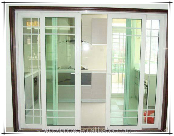 frosted glass exterior office sliding door