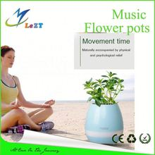 Newest arrival flower pots with bluetooth speaker piano playing function cheapest price