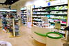 Pharmacy Store with Wooden Display for OTC