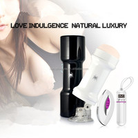 Wireless Remote Control Suction Cup Male vibrating vagina Hands free Masturbator