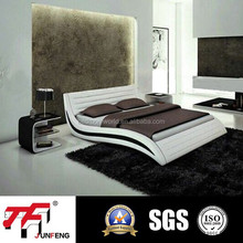 J-03 italian leather bed top grade bed popular Design Leather Bed