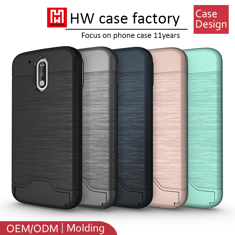 China mobile accessories cheap price silicon+pc phone case for motorola g4 plus