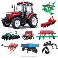 WUZHENG hydraulic steering PTO 55HP 4x4 used farm tractor for sale