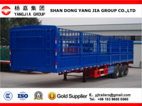 Heavy duty Stake / fence cargo / bulk semi trailer to transport grain or animals
