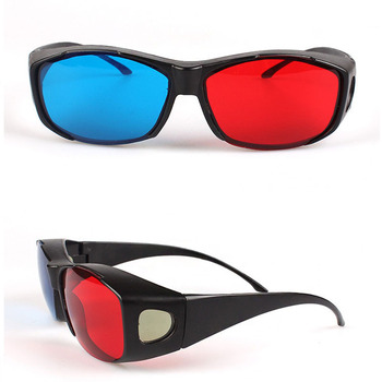 Plastic material polarized lenses red and blue with custom logo printing 3D cinema used  3D Glasses