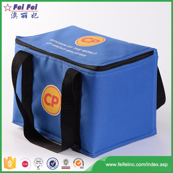 Promotional non woven aluminium foil insulation cooler lunch bag
