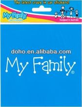 Wholesale manufacturers fishing family decals -- DH 10580