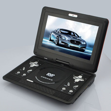 wholesale Mobile evd 10 inch rotating portable dvd player, outdoor home dual-use mini DVD player,Support multi-language
