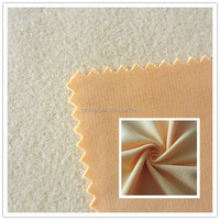 Bright deye color one side brushed fleece fabric for polyester clothing from alibaba china