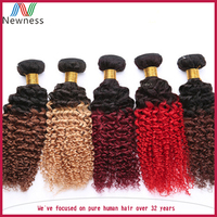 1 Pieces Could Sell afro kinky curly virgin hair ombre weave extension