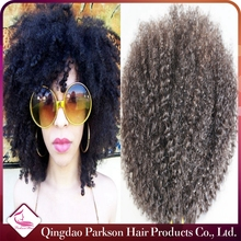Unprocessed virgin Hair top quality 7a Virgin Remy Mongolian Human Hair Mongolian Human Hair afro puff kinky