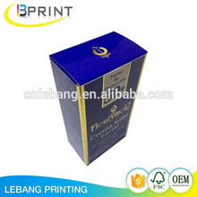 Eco friendly Custom Printed Full Color Printing Gold/ Silver Stamping Cosmetic Paper Box