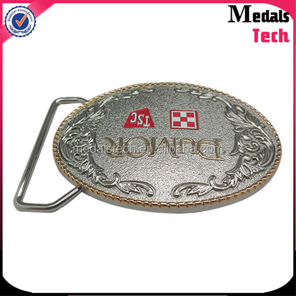Two tone plating quality custom wholesale italian belt buckles