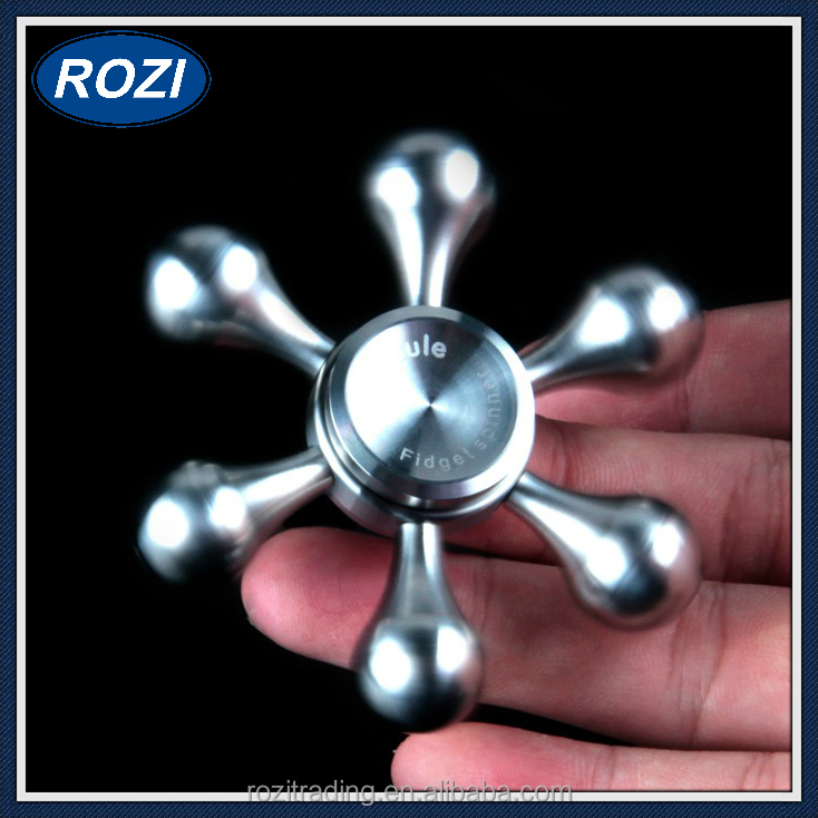 Stainless Steel High Speed Detachable Six Petal Hand Spinner Toy